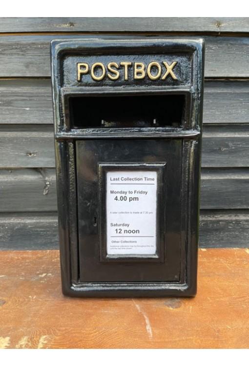 Cast Iron - Post Box Black