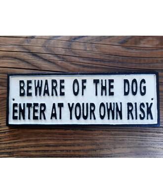 Cast Iron Plaque - Beware Of The Dog