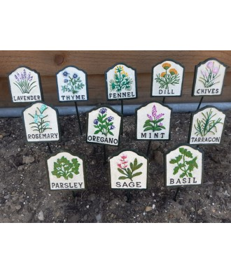 Cast Iron Herb Signs