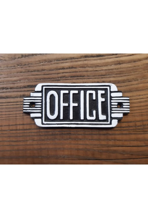 Cast Iron - Office Sign
