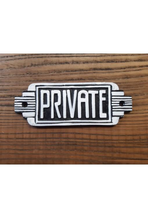 Cast Iron - Private Sign