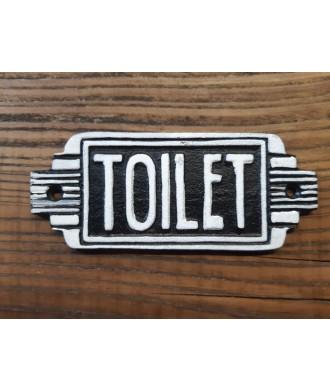 Cast Iron - Toilet Sign