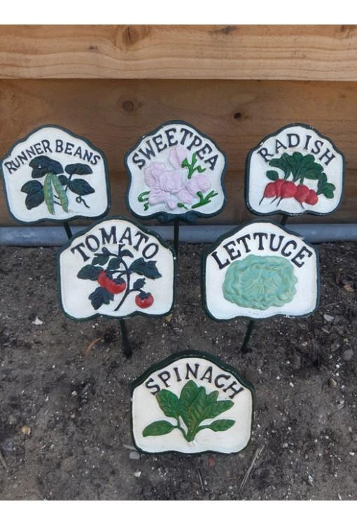 Cast Iron Salad Signs
