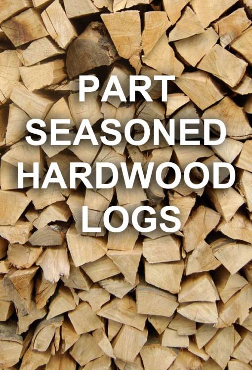 Part Seasoned Hardwood Logs (Loose)
